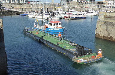 Plymouth wave gate pontoon