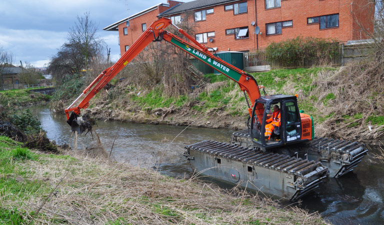 Backhoe Dredging | Land & Water Group