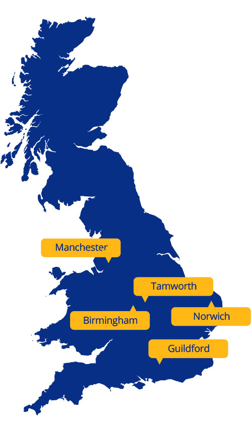 UK plant hire locations
