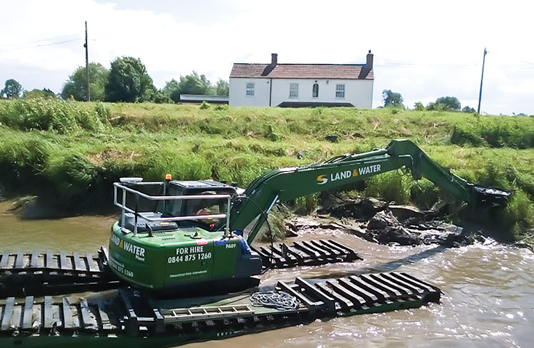 WK150 Long Reach Amphibious Excavator