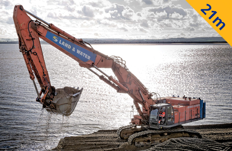 Long Reach Excavators Land Water Plant Hire