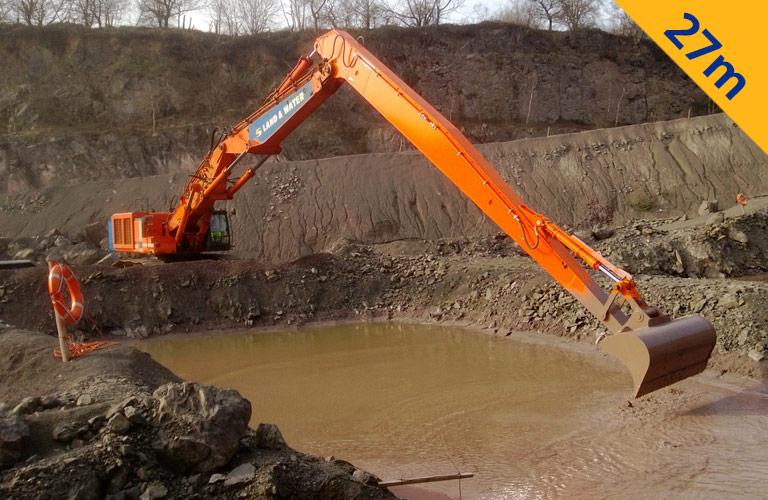 Long Reach Excavators | Land & Water Plant Hire