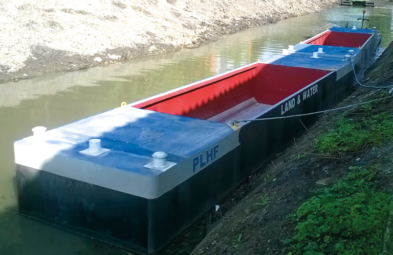 Hopper Boats and Barges   Land & Water Plant Hire